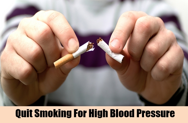 Quit Smoking For High Blood Pressure