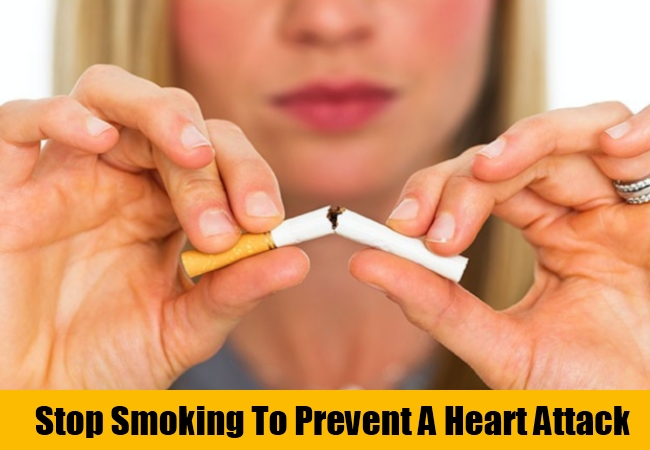 Stop Smoking To Prevent A Heart Attack