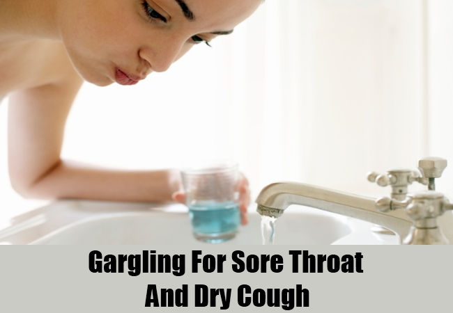 Gargling For Sore Throat And Dry Cough