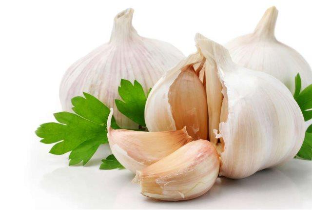 Fresh Fruits And Garlic