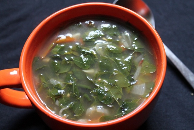 Have The Soup Of Drumstick Leaves