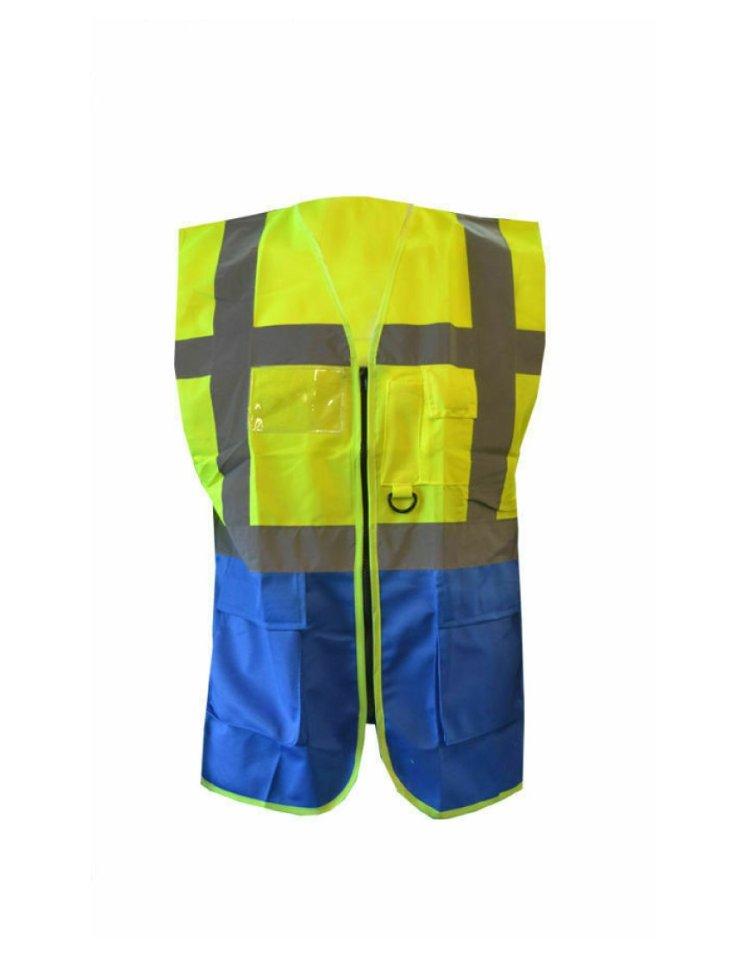 Orange safety Vests jacket with pockets