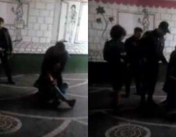 """""""Torqovı""""da oğlan insanların gözü qarşısında qızı döydü – VİDEO"""