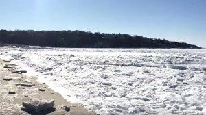 ABŞ-da okean dondu