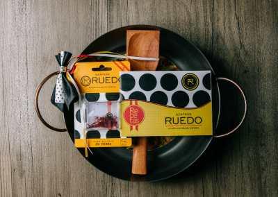 PAELLERA blister hebras / recetas/ cuchara madera