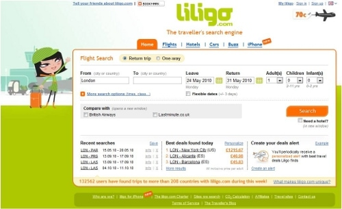 Liligo is an innovative travel search engine which helps customers to find the best deals on flights, hotels and car hire