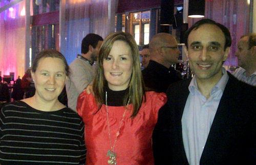 Some of the Azam Marketing Team at Conversion Thursday Manchester - Karen Clayton, Sinead Hernen & Nadeem Azam