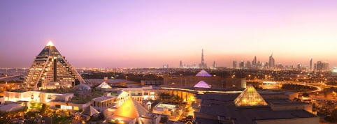 The Dubai skyline is dominated by luxury five-star hotels such as the Raffles, and dizzying modern skyscrapers