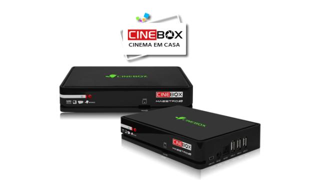 CINEBOX MAESTRO HD ATUALIZAÇÃO V.4.24.3 VOLTA 58W - JULHO 2017