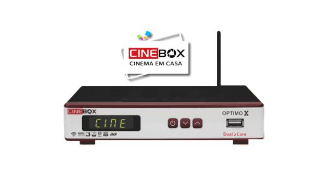 ATUALIZAÇÃO CINEBOX OPTIMO X - 58W ATIVO - 19/07/2017