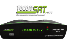Nova atualização Tocomsat Phoenix HD IPTV v.2.041 - 11/07/2017