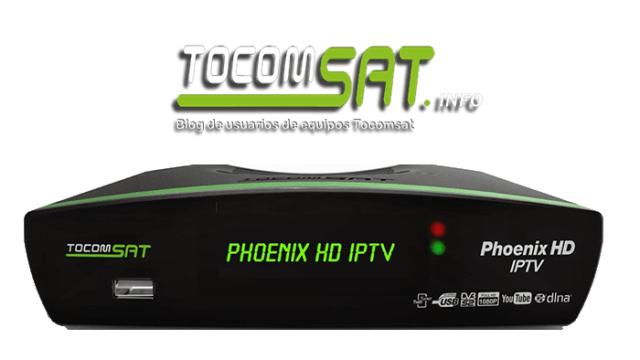 ATUALIZAÇÃO TOCOMSAT PHOENIX HD IPTV V.02.043 - AGOSTO 16/08/2017