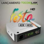 Novidade Tocomlink Festa HD novo receptor com ACM e atualização confira aqui!!!