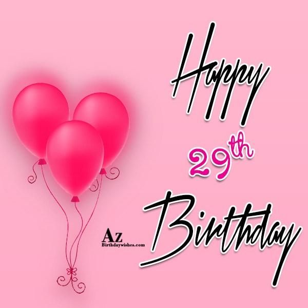 29th Birthday Wishes
