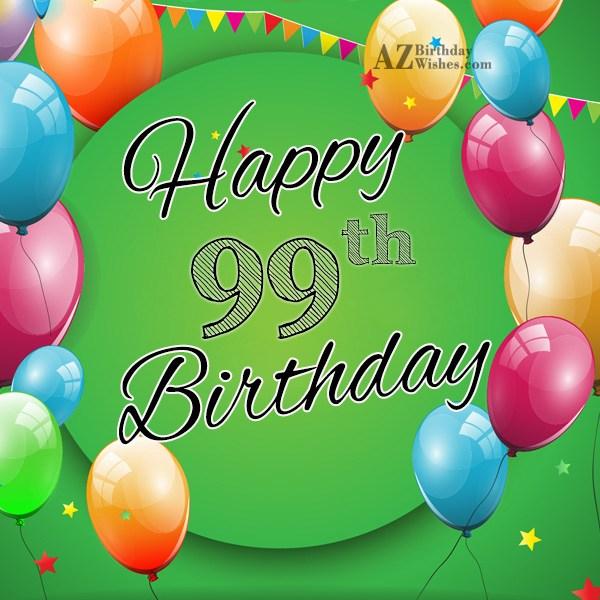 99th Birthday Rose Happy