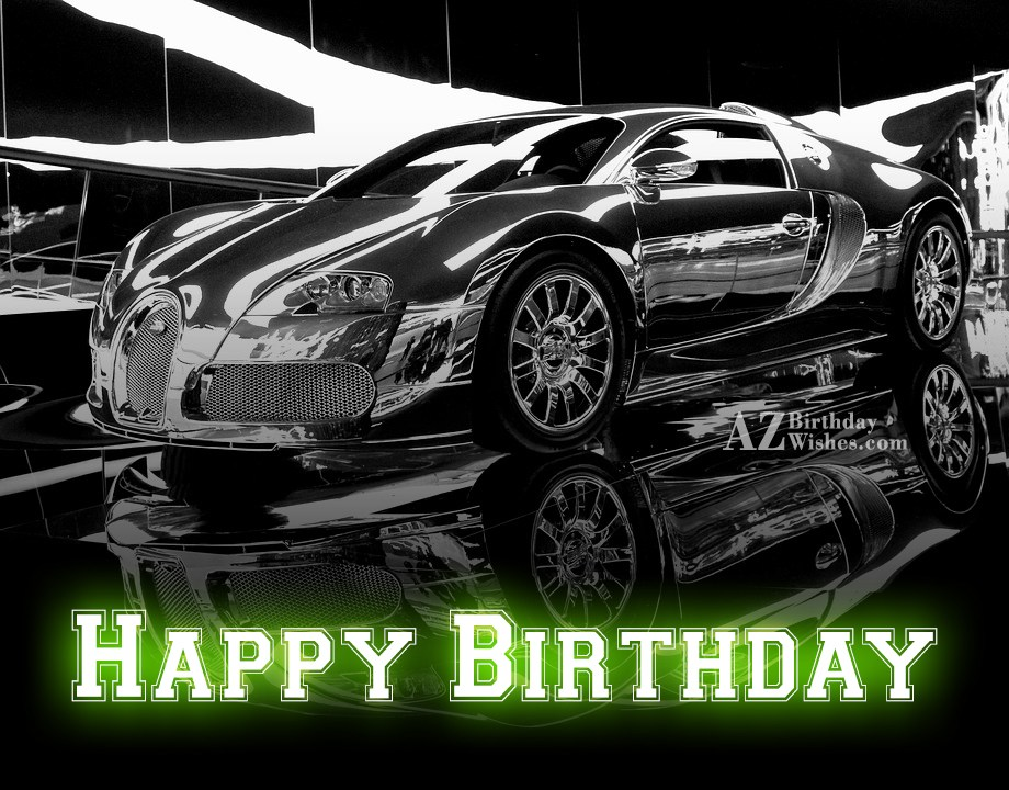 Happy Birthday Wish On Car