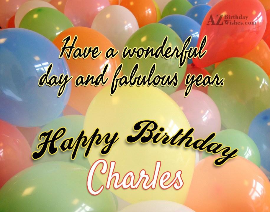 Happy Birthday Charles