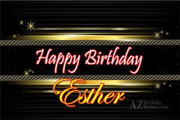 Happy Birthday Esther