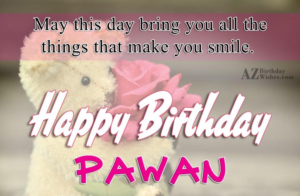 Happy Birthday Pawan