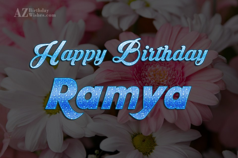 Happy Birthday Ramya