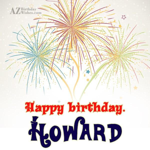 Happy Birthday Howard