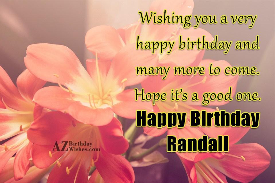 Happy Birthday Randall