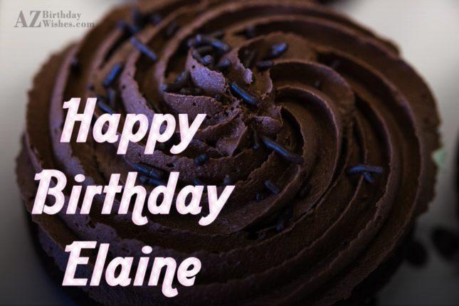 Happy Birthday Elaine