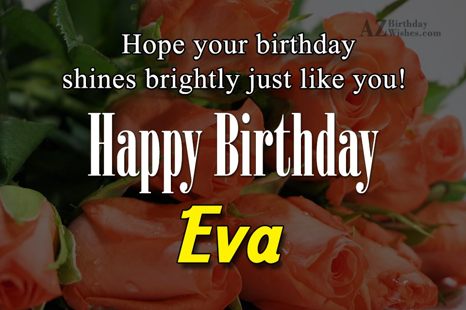Happy Birthday Eva