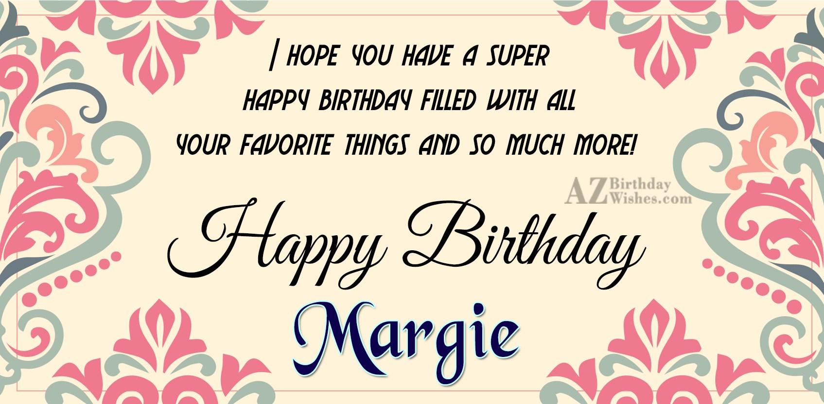 Happy Birthday Margie
