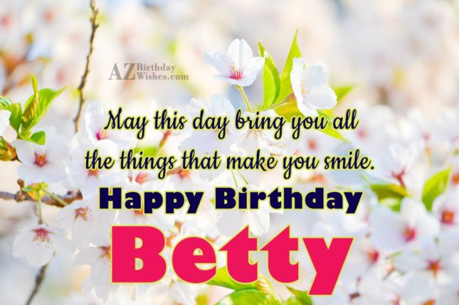 Happy Birthday Betty