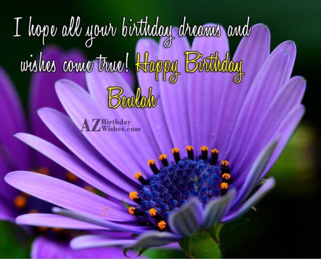 Happy Birthday Beulah