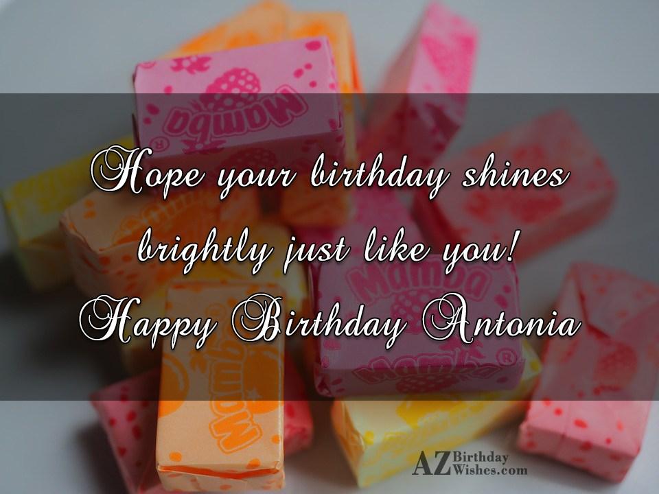 Happy Birthday Antonia