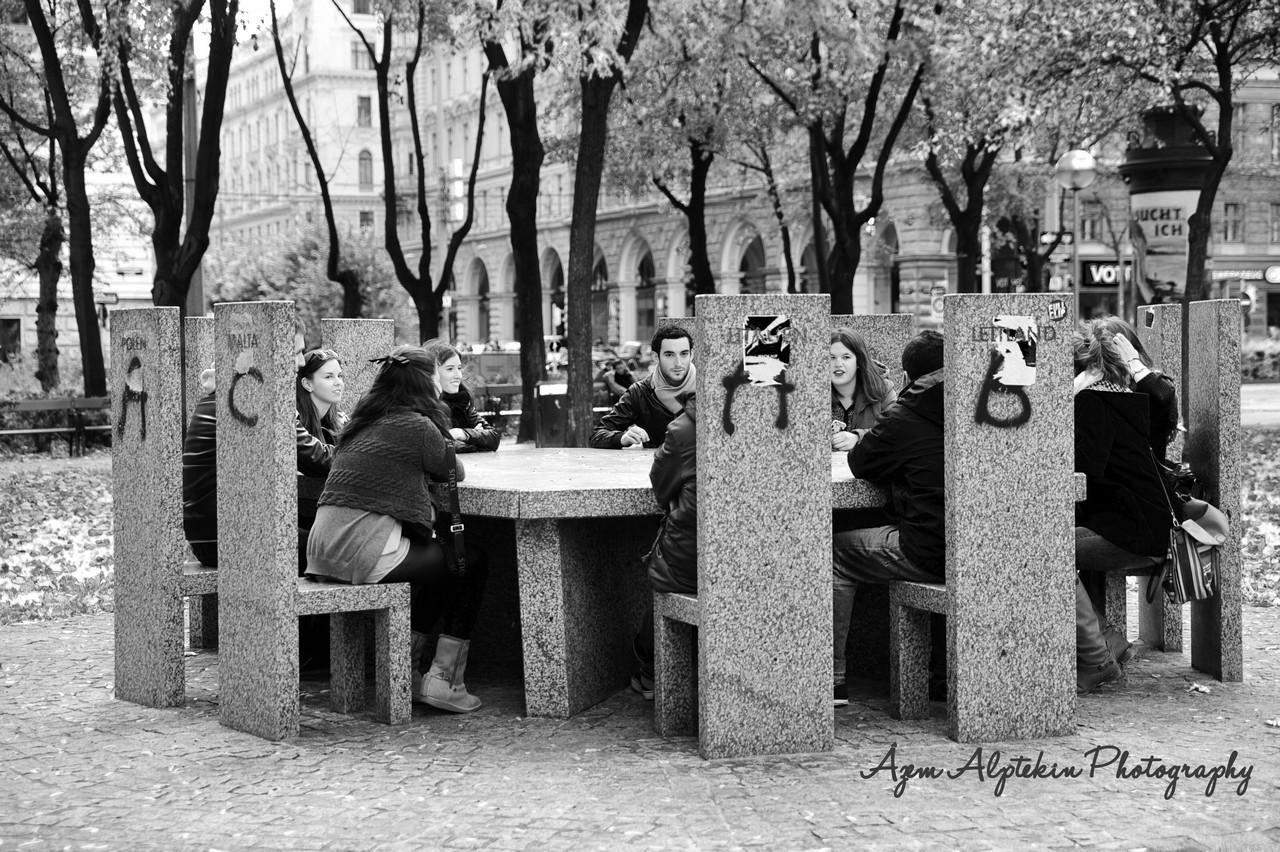 European Union around a table