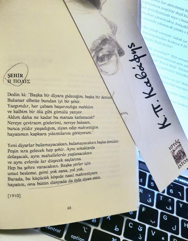 Kavafis - Şehir Şiiri, İstos Yayınları, K.P.Kavafis - Bütün Şiirleri kitabı