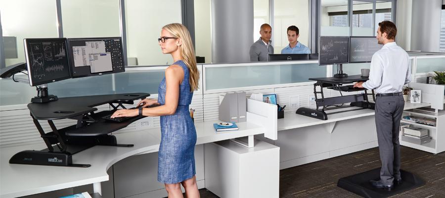 travailler debout pour ameliorer sante et productivite au bureau