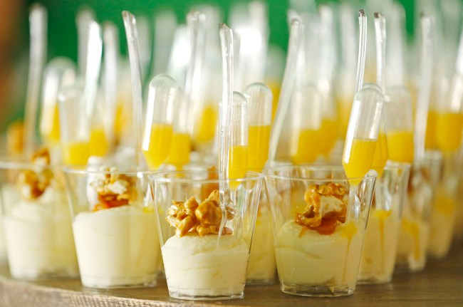White chocolate mousse & house made carmel corn with Coulie from The Market Saturday, Nov. 7, 2015 during the Azcentral Food & Wine Experience in Scottsdale,  Ariz.
