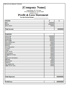 Profit-Loss-Statement-Template