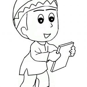 Gambar Kartun Anak Kecil Muslimah