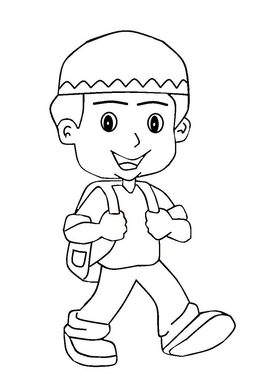 Gambar Anak Sholeh : gambar, sholeh, Contoh, Gambar, Mewarnai, Kartun, Sholeh, KataUcap