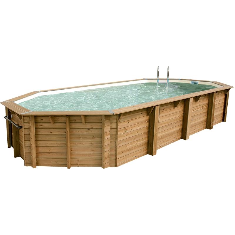 piscine bois ocea 8 60 x 4 70 x h1 30m coloris du liner bleu