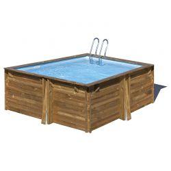 piscine bois carra 3 05 x 3 05 x h1 19m