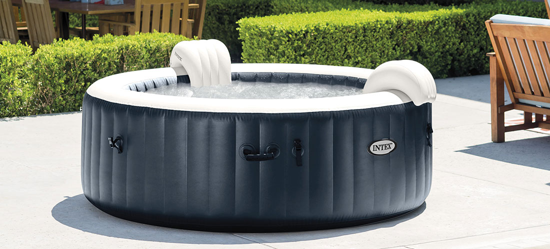 spa intex pure spa blue navy 6 places luxe led