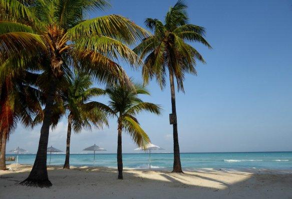 Het ansichtkaart mooie strand van Playa Norte. Isla Mujeres