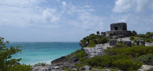 Ook de Maya's hielden van de mooie blauwe zee. Tulum