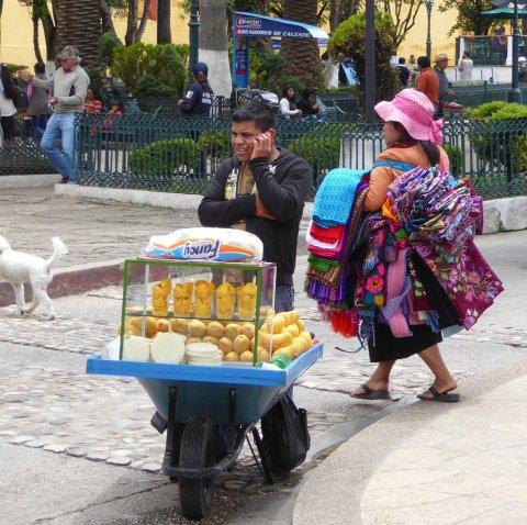 Hoezo zou je een winkel beginnen als je ook alles lopend mee kunt nemen. San Cristóbal de las Casas