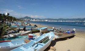 Het strand van Acapulco.