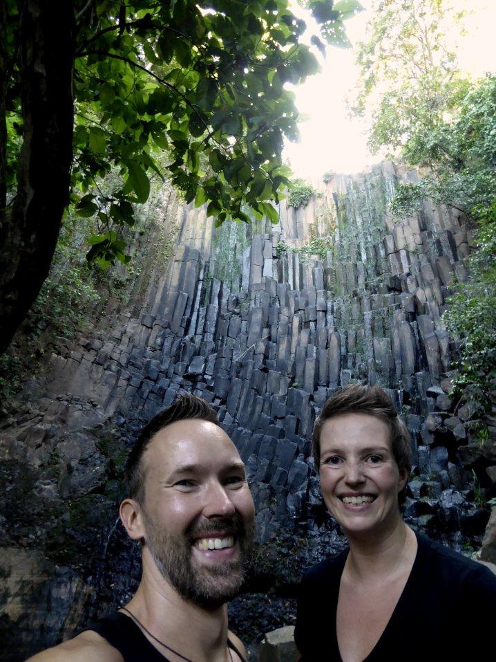 Hep'ie us bij Los Tercios waterval. Suchitoto