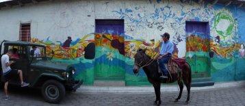Mooie muurschildering. Tacuba