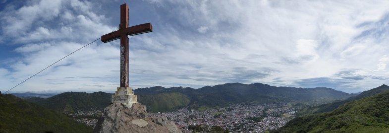 Het ondergekliederde kruis van Jinotega.
