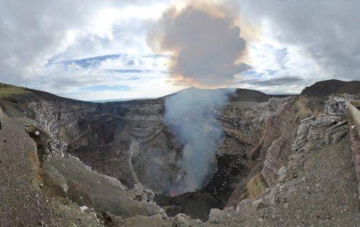 De Masaya vulkaan krater.
